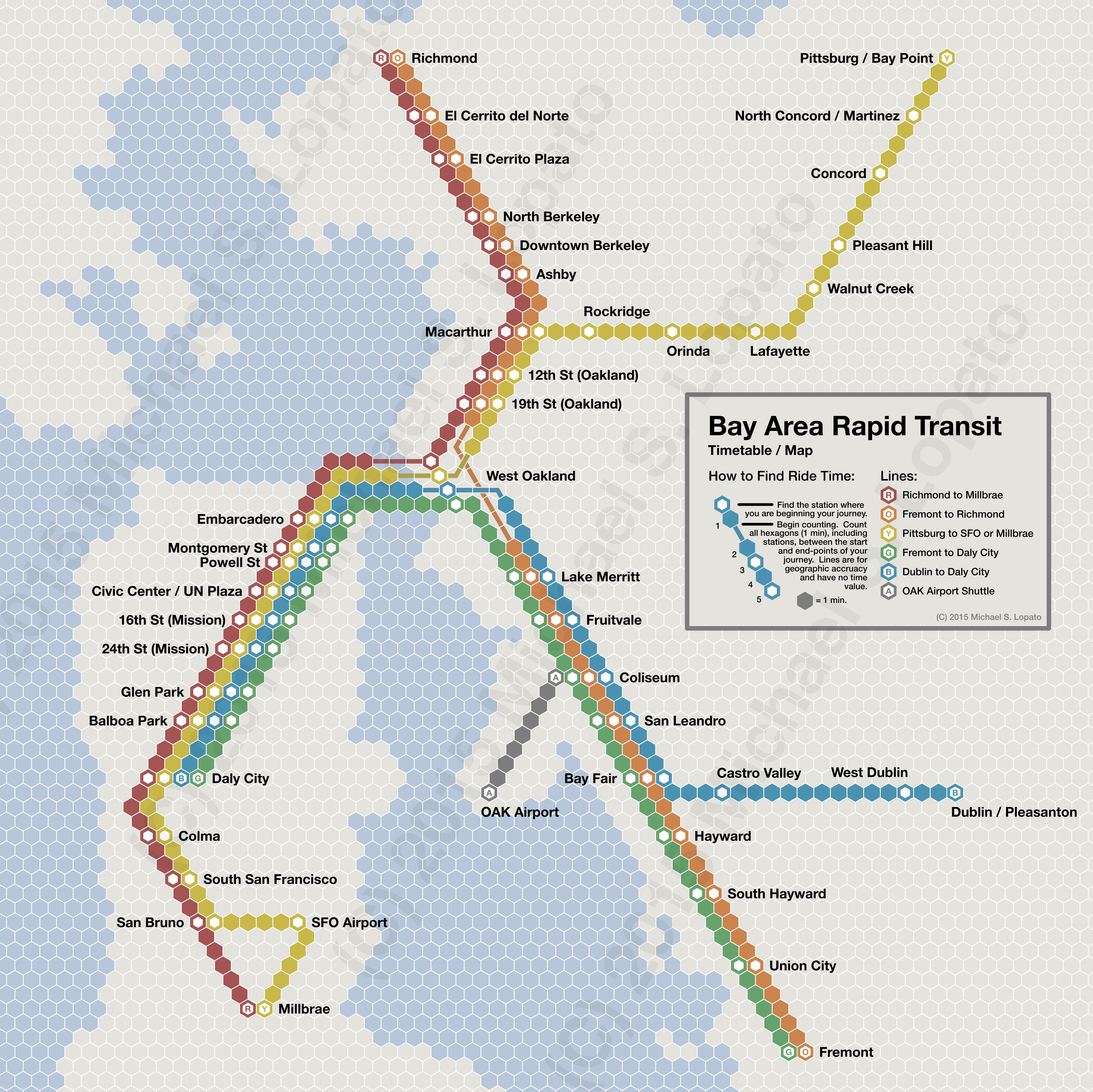 Submission Time Scale Map of Bay Area Rapid Transit Maps