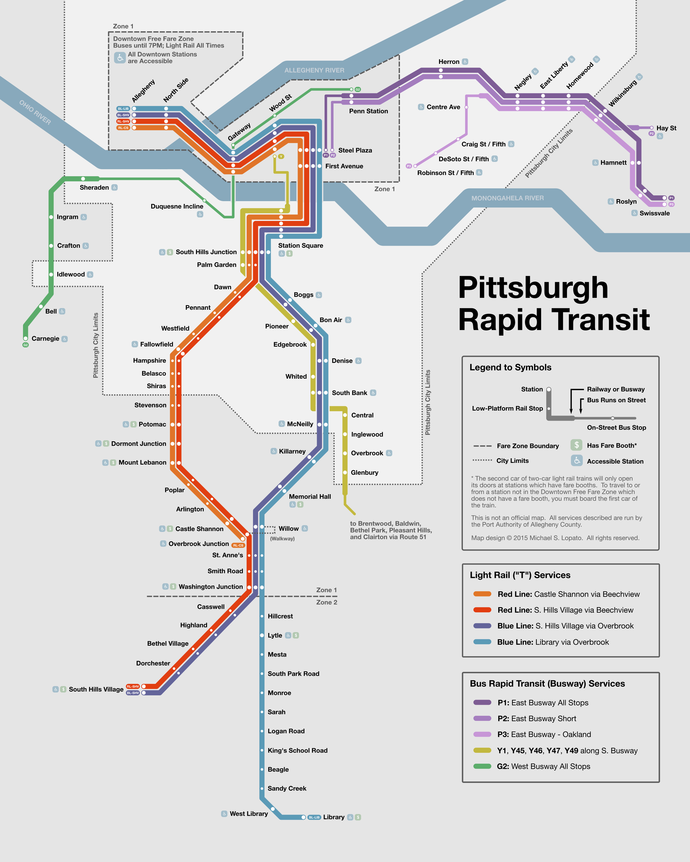 Submission – Unofficial Map: Pittsburgh Rapid   Transit Maps